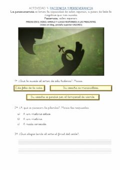 Interactive worksheet Valores 7 PACIENCIA