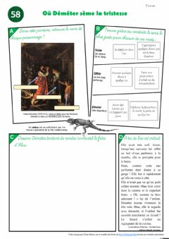Interactive worksheet Le feuilleton d'Hermès - épisode 58