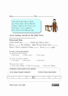 Interactive worksheet Arotza
