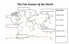 Interactive worksheet 5 Oceans of the World