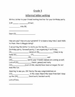 Interactive worksheet Informal letter
