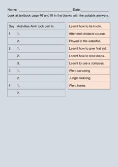 Interactive worksheet Unit 5.3 Travel