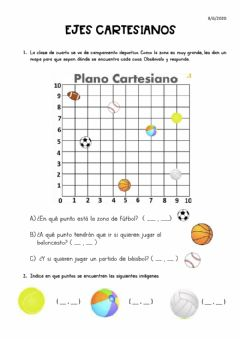 Interactive worksheet Coordenadas