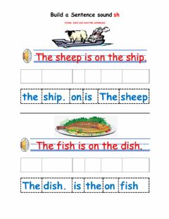 Interactive worksheet The digraph sh sound
