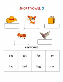 Ficha interactiva Short Vowel Sound A