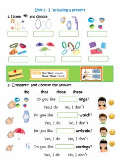 Interactive worksheet I-m buying a present