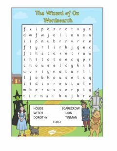 Interactive worksheet The wizard of oz