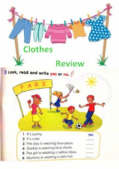 Interactive worksheet Clothes - Yes-No