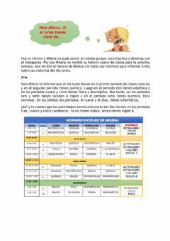 Interactive worksheet Comprension de lectura