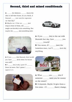 Interactive worksheet Second, third and mixed conditionals