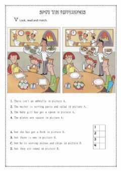 Interactive worksheet Spot the differences