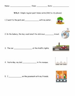 Ficha interactiva Simple regular past-tense verbs