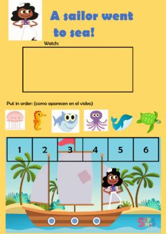 Interactive worksheet A sailor went to sea