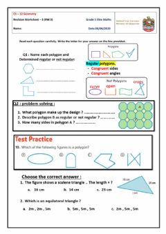 Ficha interactiva Revision Worksheet-3 on ch-12