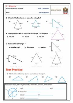 Interactive worksheet Revision Worksheet-4 on ch-12
