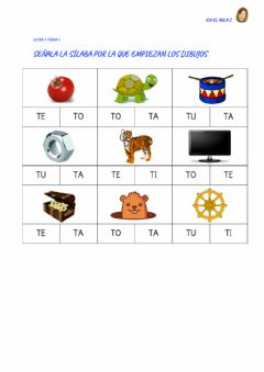 Interactive worksheet Letra T: ficha 2