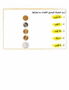 Interactive worksheet العملات