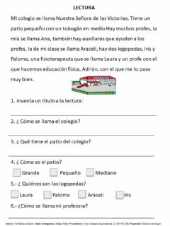 Interactive worksheet Lectura