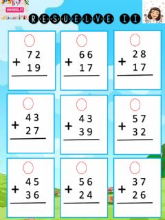Interactive worksheet Sumas con llevadas