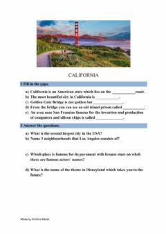 Interactive worksheet California -redoviti