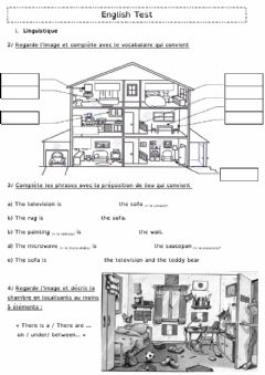 Interactive worksheet In the house