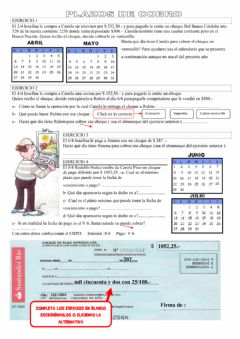 Interactive worksheet Cheques 1