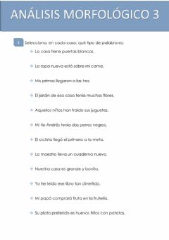 Interactive worksheet Analisis morfológico 3