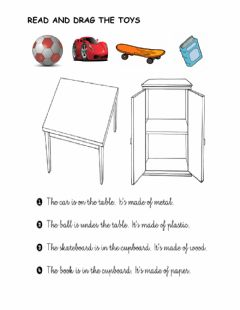 Interactive worksheet Prepositions: in, on, next to, under
