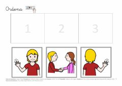 Interactive worksheet Secuencias causa efecto 3 viñetas pictogramas 2