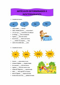 Interactive worksheet Artículos determinados e indeterminados