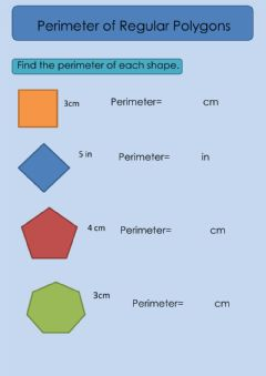 Interactive worksheet Perimeter of Regular Polygon