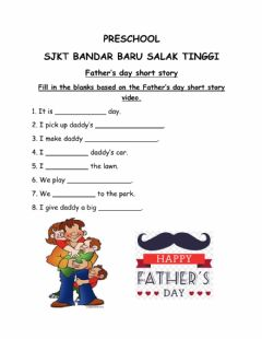 Ficha interactiva Father's day reading exercise by Teacher Irene