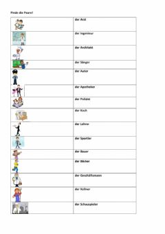 Interactive worksheet Berufe