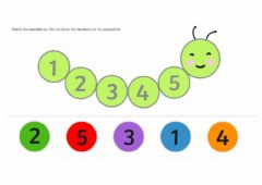 Interactive worksheet Caterpillar's numbers