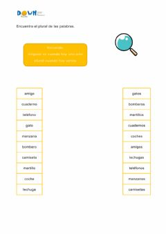 Interactive worksheet Singular-plural