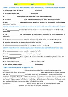 Interactive worksheet Should have, would have, could have