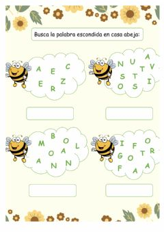 Interactive worksheet Ordena las abejas