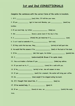 Interactive worksheet 1st and 2nd conditional