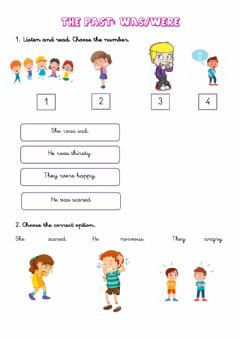 Interactive worksheet The past: was-were
