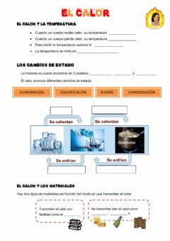 Interactive worksheet El calor