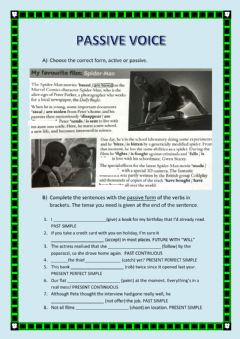 Ficha interactiva Passive Voice - Cinema Vocabulary
