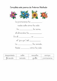 Interactive worksheet Poesía A. Machado