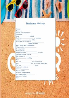 Interactive worksheet Walking on sunshine song