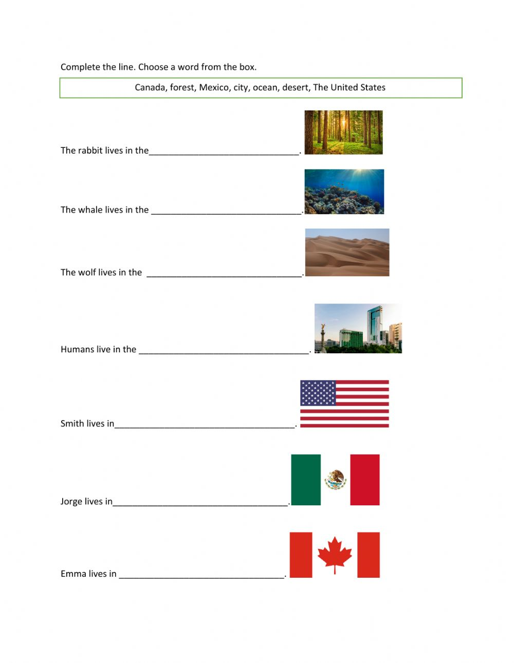 Where I Live Worksheet Twitter share english exercise where do they live? created by lili73 with the test builder. where i live worksheet