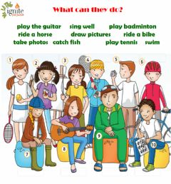 Interactive worksheet What can you do?