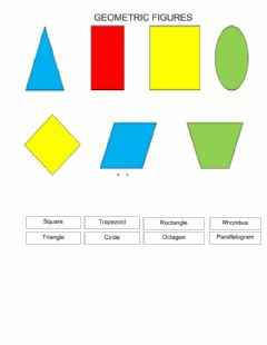 Interactive worksheet Geometric Figures