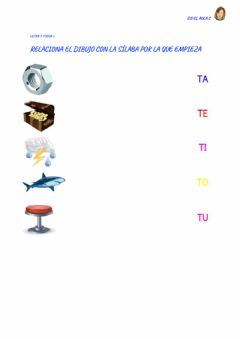 Interactive worksheet Letra T: ficha 3