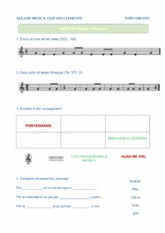 Interactive worksheet Repàs 1r