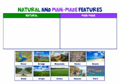 Interactive worksheet Natural and man-made features