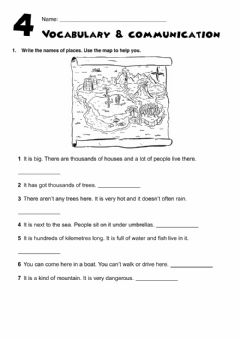 Interactive worksheet GG2. Vocabulary and communication Test UNIT 4